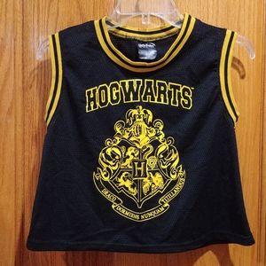 Harry Potter Hogwarts mesh jersey crop top